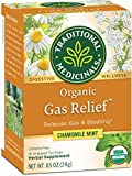 Traditional Medicinals Organic Gas Relief Digestive Tea, 16 Tea Bags (Pack of 6)