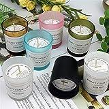 Set de Velas perfumadas 6 Piezas, Vela para Mujer 7 onzas 30 Horas de aromaterapia Duradera con Vela de Soja con Frasco Helado y Adorno de cordeles para Uso doméstico y Regalo