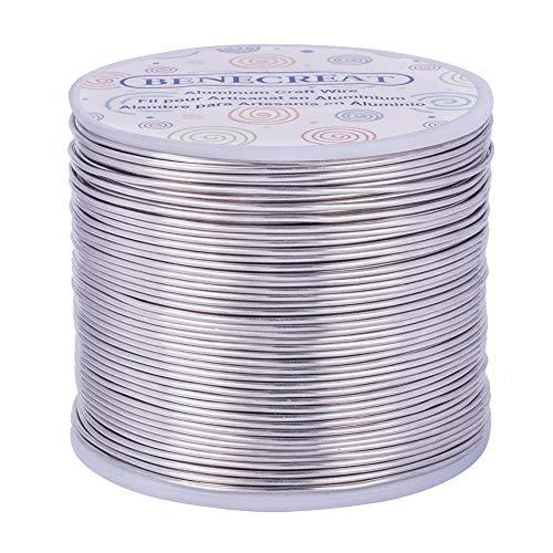 BENECREAT 116m 1.2mm Alambre de Aluminio Alambre Manualidades Hilo de Aluminio Color...