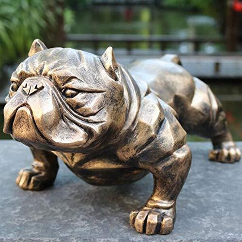 ZHIRCEKE Bully American Bully Pitbull Perro Animales Figura Figura Toy Action Modelos realistas Educación para niños Estatuas cognitivas Decoración del hogar de Juguete / 15.3x8.3x7inches