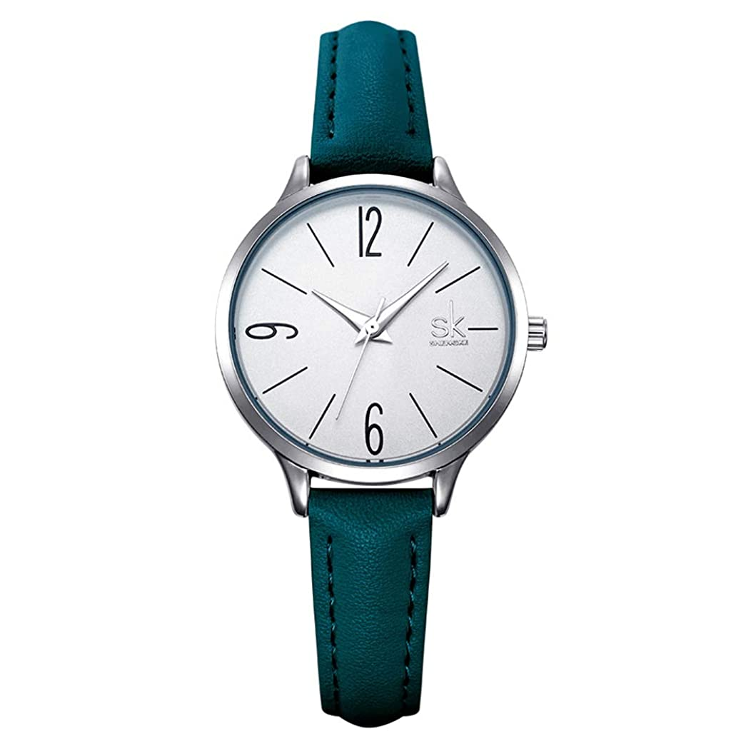 SK SHENGKE Ladies Watches Round Women Watches on Sale Leather Band Small Quartz Analog Fashion Watches sikl7954395760