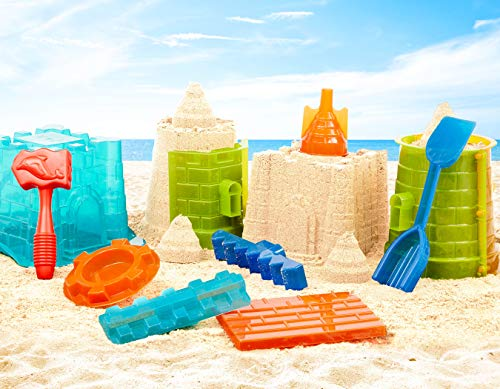 Battat - Sand Toys for Kids - 11pc Sandcastle Building Kit with Sand Molds and Shovel - Outdoor Sandbox Toys - Sand Castle Play Set - 3 Years +