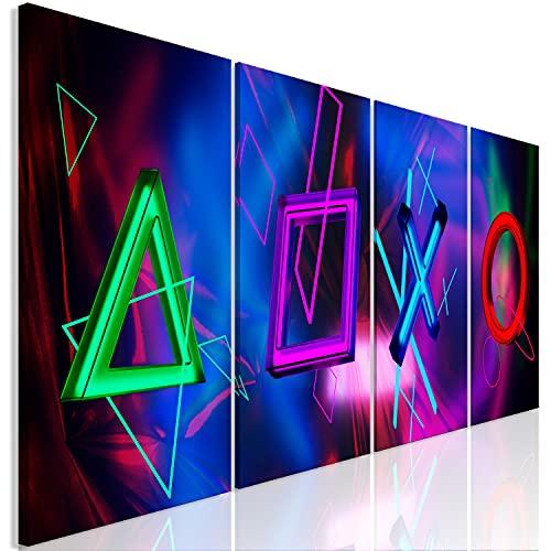 murando - Bilder für Gamers Spielkonsole 160x60 cm Vlies Leinwandbild 4 Teilig Kunstdruck modern Wandbilder XXL Wanddekoration Design Wand Bild - Gaming Play 3D Effekt i-A-0193-b-i