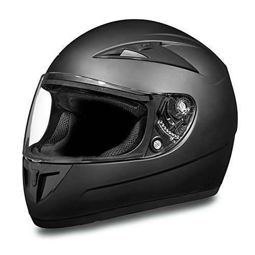 Daytona Helmets Motorcycle Full Face Helmet Shadow- Dull Black 100% DOT Approved