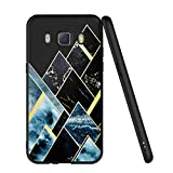 ZhuoFan Coque Samsung Galaxy J5 2016, Etui en Silicone Noir avec Motif 3D Fun Fantaisie Dessin Antichoc TPU Gel Housse de Protection Case Cover Coque pour Téléphone SamsungJ5 5.2 Pouce, Géométrique