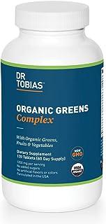 Dr. Tobias Organic Greens Complex Supplement, 120 Tablets