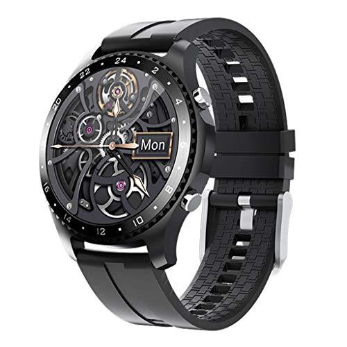 APCHY Reloj Inteligente Smartwatch GPS para Hombres,30 Llamadas Bluetooth,Seguidores De Actividades De Frecuencia Cardíaca,Presión Arterial, Pulsera Inteligente Deportiva, Medición De Temperatura,A