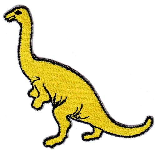 Dinosaurios Amarillo Titanio osaurus parche con plancha Patc