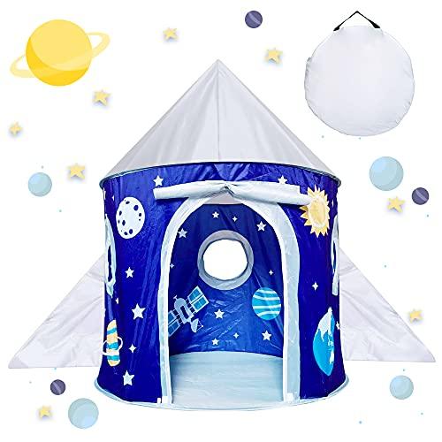 Tienda Juguete para Niños de 3-10 Años Niña, Regalo Cumpleaños Niños Pequeños Niños de 4 5 6 7 8 Tienda Campaña Plegable Niños Bebés Presentes Juguetes Casa Juegos Teepee Castle Niños de 4-9 Años