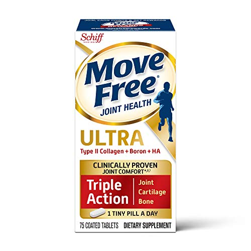 Type II Collagen, Boron & HA Ultra Triple Action Tablets, Move Free (75 ct), Joint Health Supplement...
