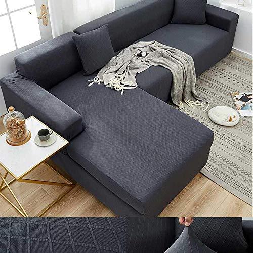 flqwe Soft Stretch Sofabezug FüR,Dicke elastische universelle universelle Sofabezug, Alles inklusive, 1 Stück-Doppel 145-185cm_J