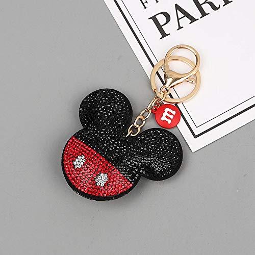 Llavero de Disney con diseño de Minnie Mickey, para mujer, accesorios de bolsa de regalo para niños y niñas (color: 1)