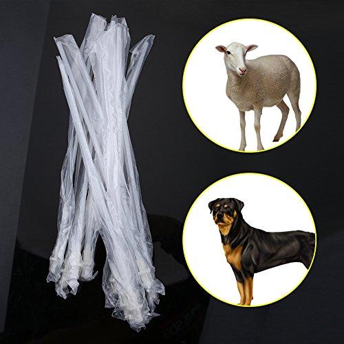 Haokaini Tubos de Inseminación Artificial 10 Unids/Set Catéter de Inseminación Ovejas Canie Perros Raza de Mascota Alimentación de Cría de Inseminación Catéter de Cría Tubo de PVC