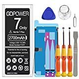 Battery for iPhone 7, GDPower 2700mAh New 0 Cycle High Capacity Replacement Battery for iPhone 7 Model A1660 A1778 A1779 with Complete Repair Tool Kits Only for iPhone 7-18 Months Service