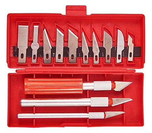 Amtech AM-S0500 Am-Tech Lot de 13 cutters pour travaux manuels, Transparent, taille unique
