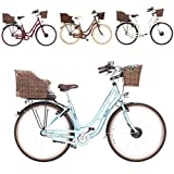 Fischer Retro ER 1804 - Bicicleta eléctrica (28 pulgadas, altura de 48 cm, motor delantero 25 Nm, batería de 36 V)