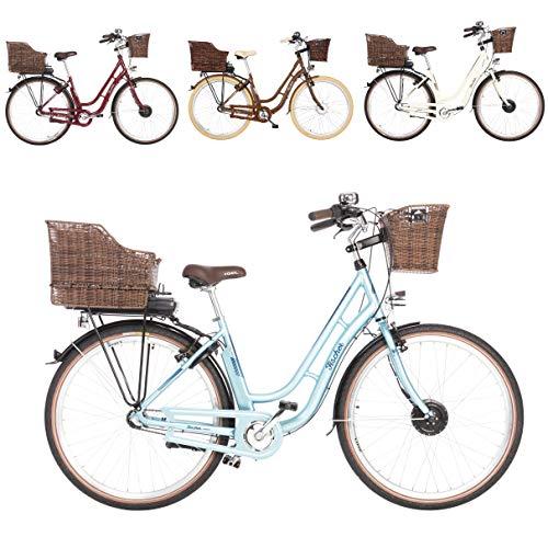 Fischer ER 1804 - Bicicleta eléctrica (28', 48 cm, motor delantero 25 Nm, batería de 36 V), color azul, tamaño 28' - RH 48cm, tamaño de cuadro 48., tamaño de rueda 28.0