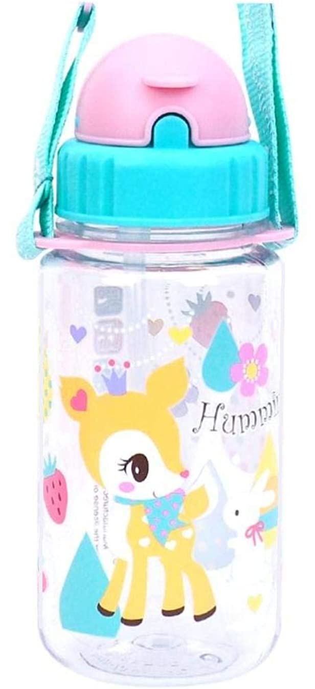 Hummingmint Deer Tritan BPA & BPS Free Straw Water Bottle Heat & Cold Resistant with Strap-Removable 14-Ounce