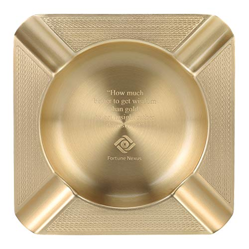 Fortune Nexus Copper High End Luxury Tabletop Cigar Ashtray, Cigar Ashtray for Living Room, Kitchen, Indoor & As Home Decor