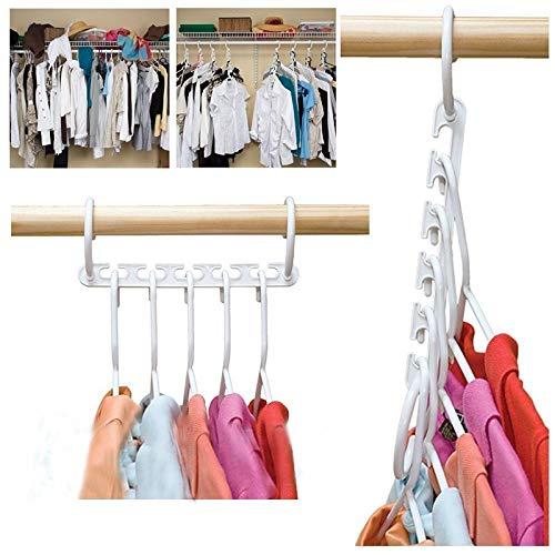 5/10 stks 5 Gat Magic Wander Hangers Kleding Space Saver Space Saver Wonder Magic Kleding Hanger Haak Hangers Voor…