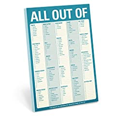 All Out Of notepad lets you check off depleted items as you run out, then replenish with ease and certainty the next time you shop Measures 6 x 9 inches; 60 sheets Magnet on the back for added convenience A great gift for any head of household Never ...