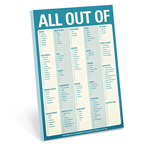 Knock Knock All Out Of Pad Grocery List Note Pad, 6 x...