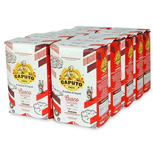 Antimo Caputo Chefs Flour 2.2 LB (Case of 10) - Italian Double Zero 00 - Soft Wheat for Pizza Dough, Bread, & Pasta