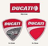 Ducati parche para planchar Patch 3pieza motocicleta moto gp Turbo Envío