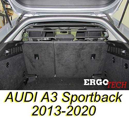 ERGOTECH Trennnetz Trenngitter Hundenetz Hundegitter RDA65HBG-2HXXS8 für Audi A3 Sportback BJ 2013-2020.