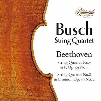 "Beethoven: String Quartets Nos. 7 & 8 ""Rasumovsky"""