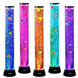 Playlearn Sensory Bubble Tube – 31 Inch Fake Fish Tank Floor Lamp – Color Changing – Calming Effect