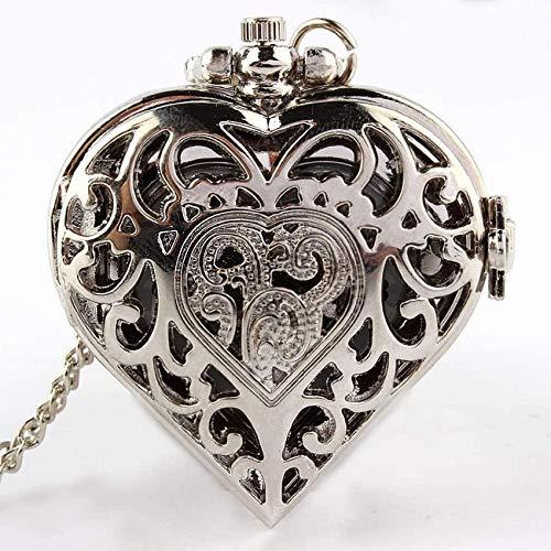 ZHANGYY Relojes de Bolsillo Estudiante Mujer Reloj de Hombre Día de San Valentín Lista de Amor de almejas Decorar Regalo para Padre