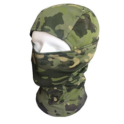 QMFIVE Pasamontañas Máscara Camuflage Cara Completa Militar Táctico Capucha De Ninja Caza Ciclismo Máscara Camuflaje