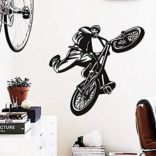 Art Goedkope Home Decoratie Mooie Figuur Fiets Muursticker Vinyl Huis Decoratie Sportfiets Decals in Gym Bars en Winkels 76x74cm