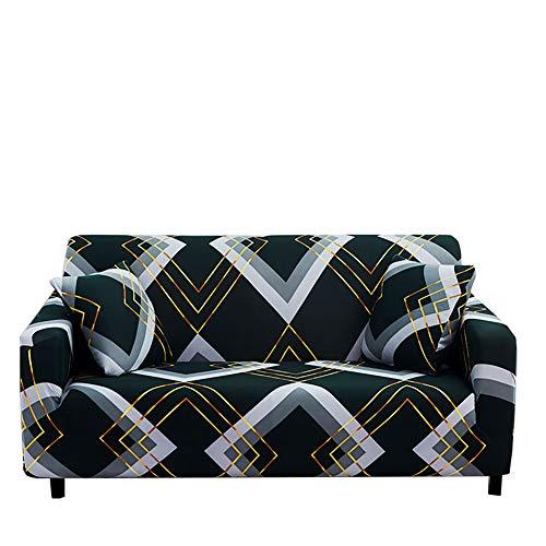 Yinnn Moderno Cubre Sofa Chaise Longue, Elastica Largo Protector, Protector Ajustables de Sofá, Extraíbles y Lavables, para Perros, Gatos y Otras Mascotas - 2-Seater 145-185cm Green