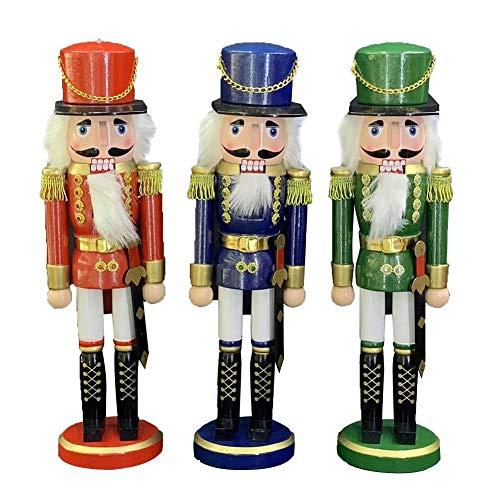 Nussknacker,3 Stück Zauberhafter Nussknacker Soldat In Rot Klassisch,Nussknacker Figur Weihnachten Nussknacker Holz