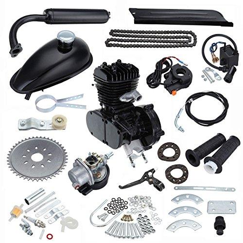 Ambienceo Motor Bicicleta Conversión Kit para Bicicleta Motorizada (50cc Negro)