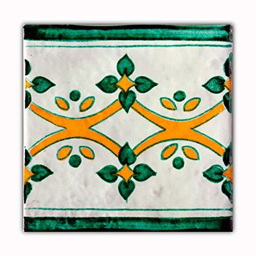 Handgemaakte keramische tegels speciaal voor badkamer, keuken, terrassen enz. Optimaal voor binnen en buiten, doos met 10 stuks.