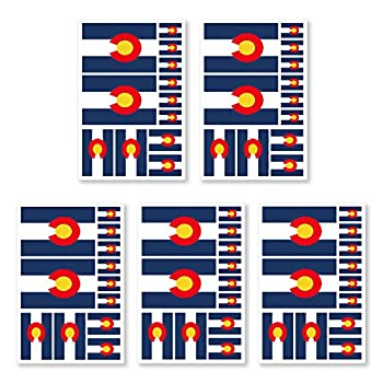 JBCD 5 Pcs Colorado Flag Tattoos CO Flag Stickers Face Tattoos State Tattoos Temporary Decorations Suitable for Sports Event and Party