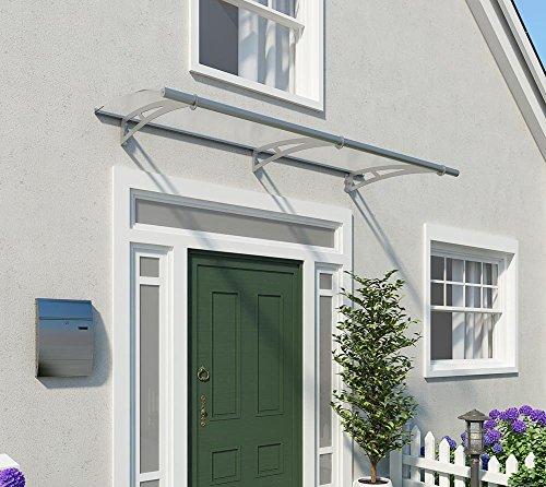 Palram Vordach, Regenschutz, Überdachung Capella 2050 klar inkl. Regenrinne // 205x92 cm (BxT) // Pultvordach und Türüberdachung