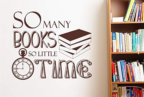 Dongwall Artista personalizado decoración del hogar tantos libros tan Poco Tiempo calcomanía de pared vinilo pegatina estudio Biblioteca decoración Papel tapiz An. 57x48 cm