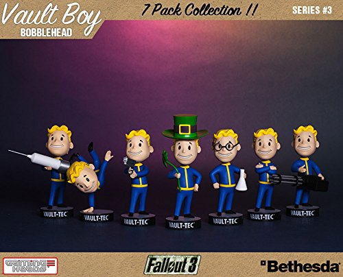 Fallout 3 Bobble-Heads 13 cm Vault-Tec Vault Boys Series 3 7-Pack Gaming