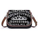 Ouija Board Black Fashion Leather Crossbody Handbag Satchel Tote Bag Shoulder Bag For Women Girls