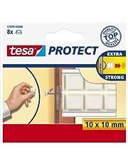 Tesa Protect beschermende buffer, vierkant, wit, 10 mm: 10 mm, 8 stuks