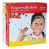 Idena 60037 - Fingermalfarben, 4 x 150 g