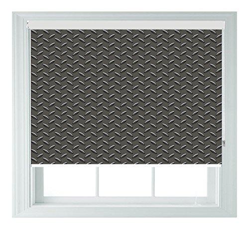 AOA® Verdunkelungsrollo für Schlafzimmer, Badezimmer, Küche und Wohnwagen, Grau, plastik metall, grau, Grey kickplate 4ft/122cm