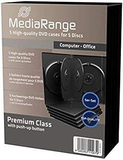 MediaRange Estuche de DVD para 5 DVDs (5) BOX35-5 Negro 22mm
