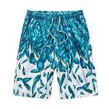 N\P - Pantaloncini estivi da spiaggia da uomo, per esterni, ad asciugatura rapida, casual Verde L