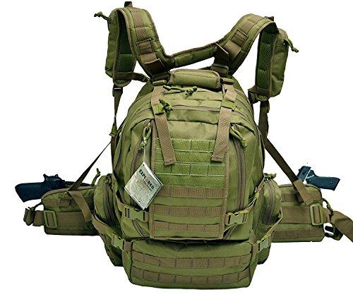 Explorer Sacs B3 Tactical Assault Lot, Mixte, B3 Tactical, Olive Drab