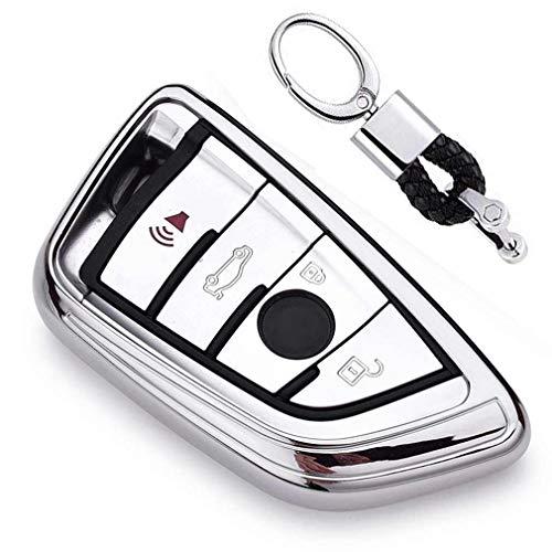Argenté Auto clés Sac Housse de Protection pour BMW 7 Series 5 Series X1 X3 X4 X5 X6 M5 M6 Remote Smart 3 4 Buttons